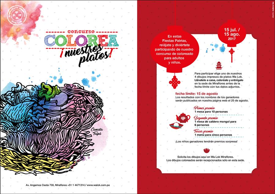 Concurso Colorea los Platos ‹ Walok